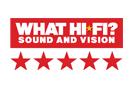 What Hi-Fi? Sound & Vision five-star badge