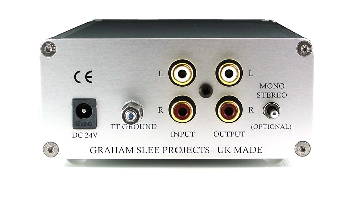 Reflex C phono preamp rear panel