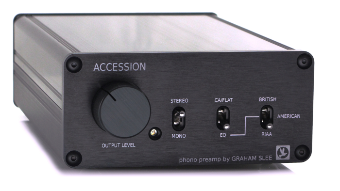 Accession phono preamp in black finish