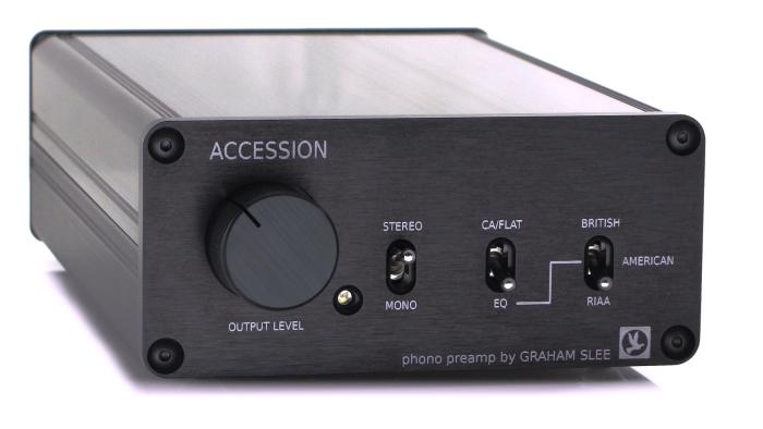 Accession phono preamp in black finish