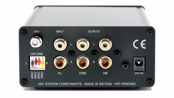 Accession phono preamp rear panel